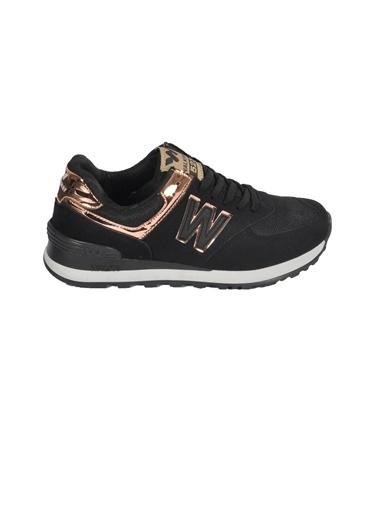 Walkway 523 Somon-Bakır Unisex Spor Ayakkabı Siyah